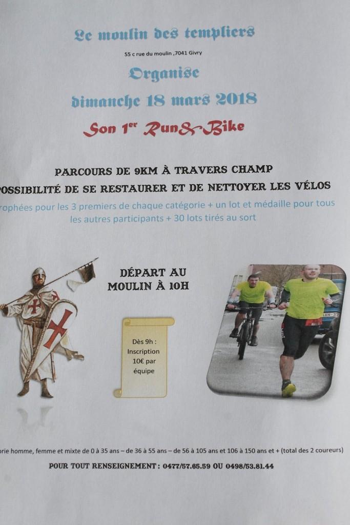 1er Run&Bike du Moulin des Templiers