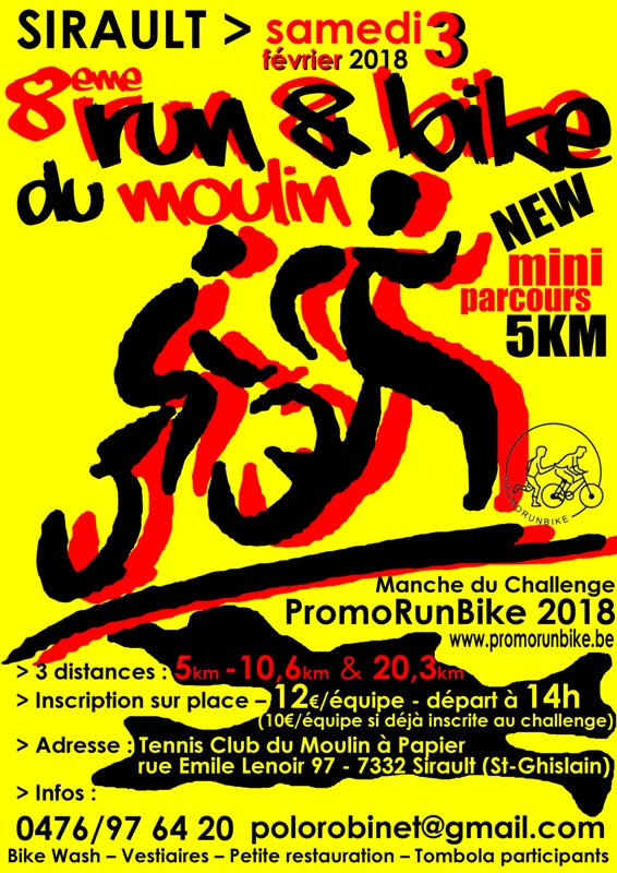 Run&Bike MAP 2018 affiche COLOR WEB