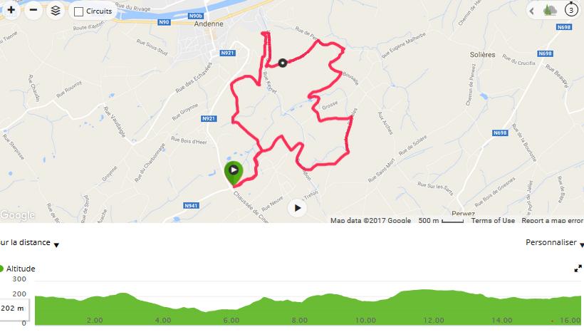 parcours 16 km